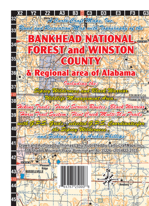 Carto Craft Maps Inc Bankhead National Forest