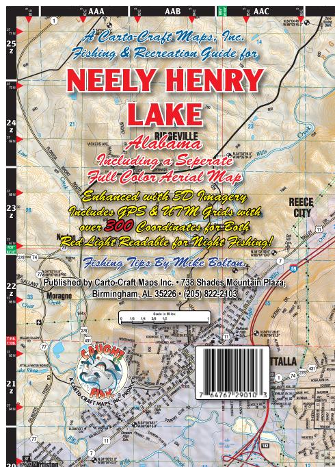 lake neely henry map Carto Craft Maps Inc Lake Wedowee lake neely henry map